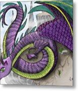 Purple Dragon Metal Print