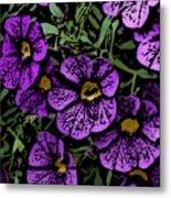 Purple Floral Fantasy Metal Print