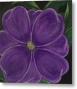 Purple Flower Metal Print by Melanie Blankenship