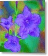 Purple Flowers 102310 Metal Print