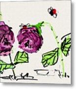 Purple  Flowers Grow Metal Print