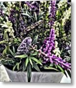 Purple Flowers In Bloom Metal Print