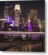 Purple For Prince Metal Print