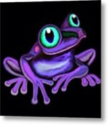 Purple Frog  Metal Print