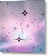 Purple Galaxy Metal Print