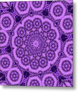 Purple Geek Kaleidoscope Five Metal Print
