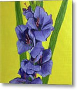 Purple Gladiolas Metal Print