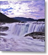 Purple Haze Waterfall Metal Print