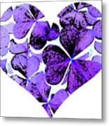 Purple Heart Art Metal Print