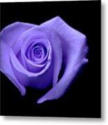 Purple Heart-shaped Rose Metal Print