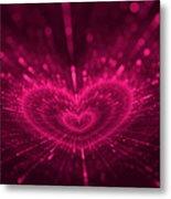 Purple Heart Valentine's Day Metal Print