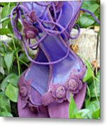 Purple Heels In Periwinkle Metal Print