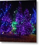 Purple Holiday Lights Metal Print