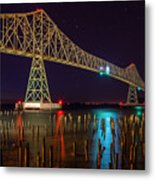 Purple Hour At Astoria Bridge Metal Print
