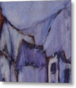 Purple Hut Metal Print