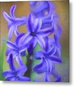 Purple Hyacinths Digital Art Metal Print