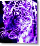 Purple Jaguar Metal Print
