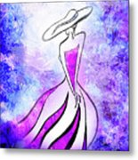 Purple Lady Charm Metal Print