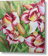 Purple Lilies.2007 Metal Print