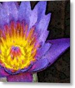 Purple Lotus Flower - Zen Art Painting Metal Print