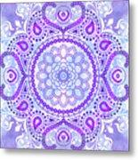 Purple Lotus Mandala Metal Print