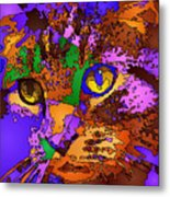Purple Love. Pet Series Metal Print