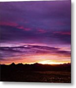 Purple Majesty Sunset Metal Print