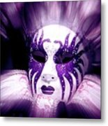Purple Mask Flash Metal Print