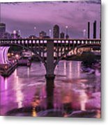 Purple Minneapolis For Prince Metal Print