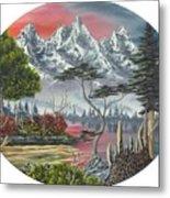 Purple Mountain Lake Metal Print