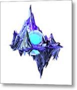 Purple Mountain Shapes - 46 Metal Print