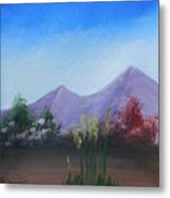 Purple Mountains In The Summer Metal Print