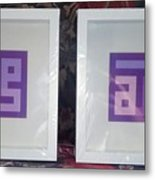 Purple Pair Metal Print