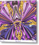 Purple Papillon Metal Print