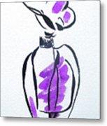 Purple Perfume Bottle Metal Print