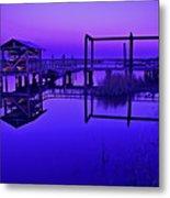 Purple Perspectives Metal Print