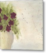 Purple Petunias Metal Print