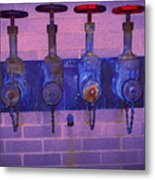 Purple Pipes Metal Print