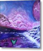 Purple Planet Metal Print