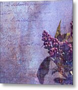 Purple Prose Metal Print