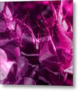 Purple Rose And Pansy Metal Print