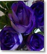 Purple Roses Ll Metal Print by Marsha Heiken