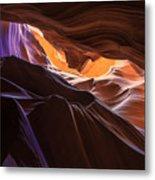 Purple Shadows To Golden Light Metal Print