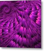 Purple Shell Metal Print