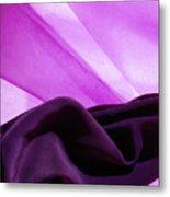 Purple Silk Metal Print