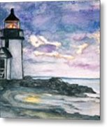 Purple Skies Over Nantucket Metal Print