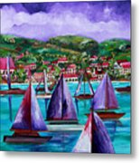 Purple Skies Over St. John Metal Print