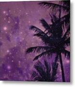 Purple Sky Palm Metal Print