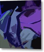 Purple Smash Metal Print