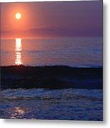 Purple Sunrise On Nauset Beach Metal Print